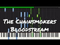 The Chainsmokers Bloodstream Piano Tutorial mp3