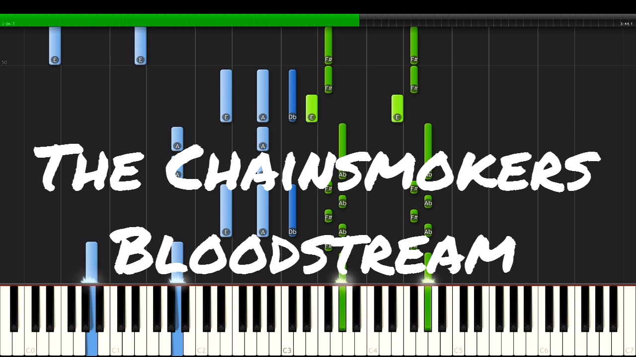 The chainsmokers bloodstream piano tutorial youtube the chainsmokers bloodstream piano tutorial hexwebz Image collections