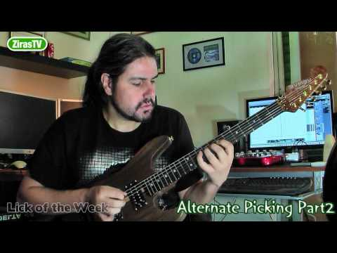 How  To Play Faster Part2 (Alternate Picking)   Lick Of The Week 87