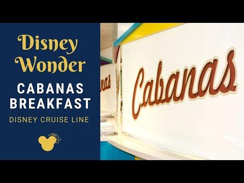 Disney Wonder - Cabanas Buffet -- Breakfast Walkthrough