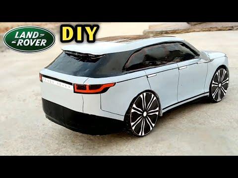 How To Make A Car | Range Rover Velar | Cardboard Craft RC Car | DIY Remote Control Toy