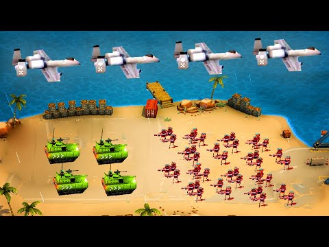 INSANE VEHICLES and AERIAL INVASION in This Amazing Tug Of War Battle Simulator - Warpips |