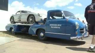 Legendary Mercedes-Benz Grand Prix Transporter and 300SL Coupe