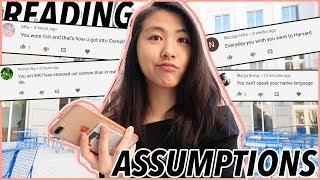 reading your assumptions about me... (I've been avoiding this)   Katie Tracy