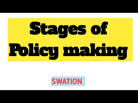 5.1 Public Policy making process.