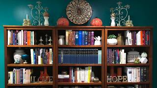 How to Style your Bookcases   Fall Autumn Decor Ideas