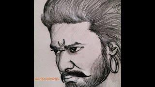 pencil sketch drawing easy simple prabhas pen baahubali