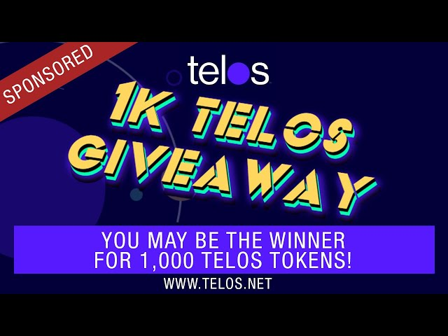 Delegated Proof Of Stake (DPOS) Telos 1k Crypto GiveAway + Major Gaming Partnership News w/ Steem