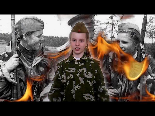 Изображение предпросмотра прочтения – НатальяТретьякова читает произведение «Солдатские будни» Ю.В.Друниной