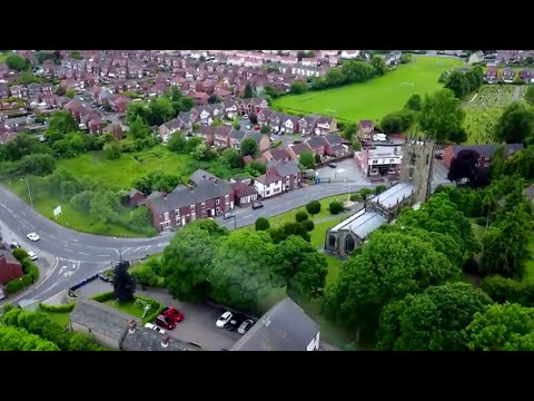 Drone view of Royston, Barnsley.