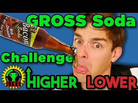 Higher or Lower REMATCH! - Gross Soda Challenge