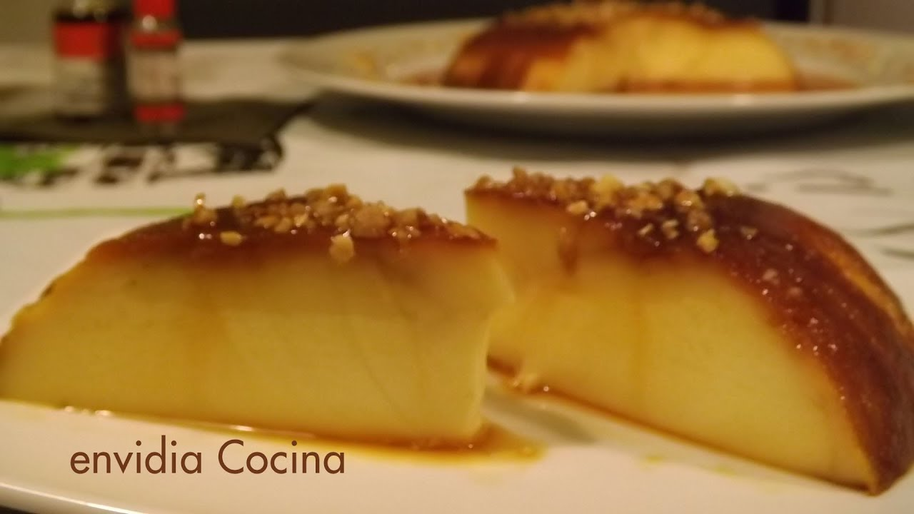 Flan de huevo cremoso con caramelo casero sin horno Leche asada