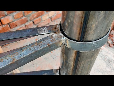 How to making A stairs  metal spiral staircase Very easy making (fabrication works Ideas)