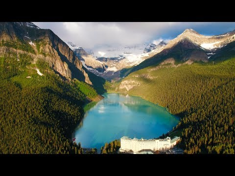 Above the Rocky Mountains  Banff in 4K Nature Relaxation™ Ambient Aerial Film + Music for Healing