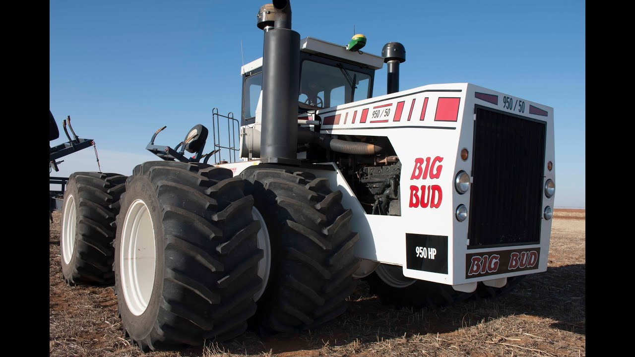 Big Bud 747 >> Big Bud tractor runs on dual 1100 Goodyear LSW tires - YouTube
