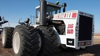 Big Bud tractor runs on dual 1100 Goodyear LSW tires