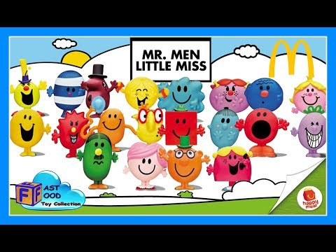2017 Mr. Men Little Miss McDonald's Happy Meal Toys Asia World complete set fastfoodTOYcollection