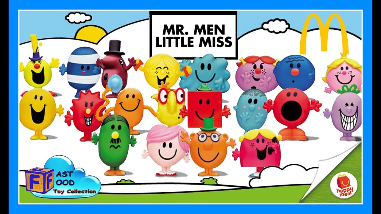 2017 Mr. Men Little Miss McDonald's Happy Meal Toys Asia World (complete set)| fastfoodTOYcollection - YouTube