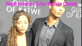 Antonia Thomas and Rege Jean Page at the Premiere Of Disney's Queen Of Katwe at The El Capitan Theat