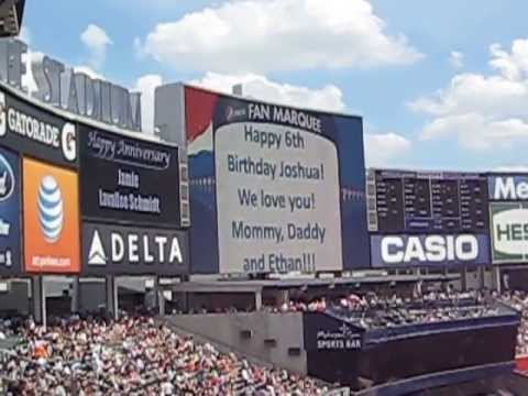 Congratulations Chris And Tracy Message On Yankee Stadium Fan
