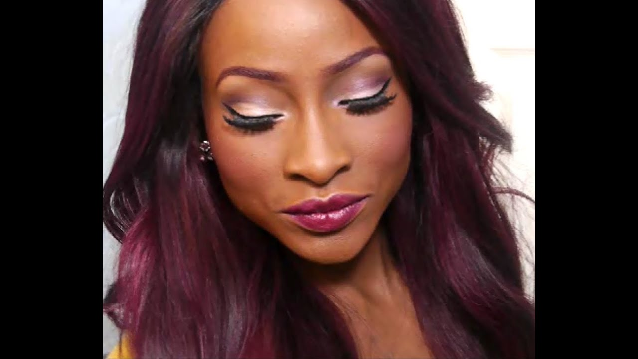 Makeup Tutorial- Burgundy Love - YouTube