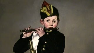 エドゥアール・マネ《笛を吹く少年》 国立新美術館 オルセー美術館展