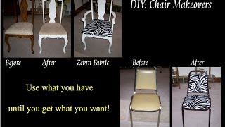 Diy Chair Makeover - Zebra Print
