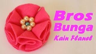 Bros bunga kain flanel dapat anda percantik dengan tambahan bahan lainnya, kali ini akan dipercantik mutiara-mutiara. bagi yang i...