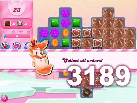 Candy Crush Saga Level 3189 (3 stars, No boosters)