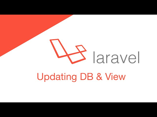 Laravel 5.2 PHP Build  a social network - Updating DB & View