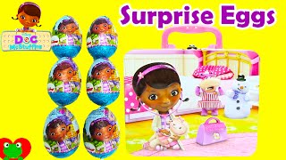 Doc McStuffins Lunch Box Surprises with Chocolate Surprise Eggs