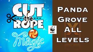 Cut the Rope Magic 3 Stars Walkthrough - Panda Grove - All Levels