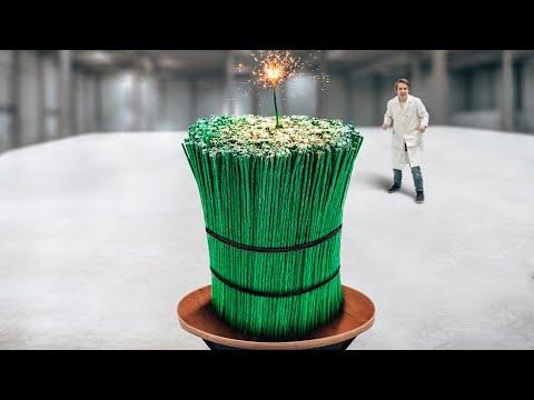 Что если поджечь 1000 фитилей одновременно?