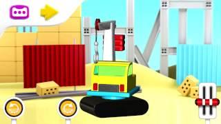 Мультик про машинки на стройке - Учим детали машинок.