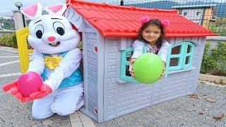 Masal'a Tavşandan Renkli Yumurta Sürprizi - Masal Pretend Play Colors Egg Funny Kids Video