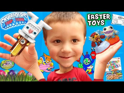 skylanders-easter-bunny-earth-trap-team-toy!-variant-minis-+-crayola-starter-pack-&-skystones-cereal