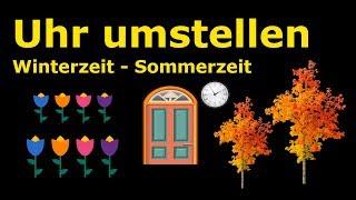Uhren umstellen - Winterzeit - Sommerzeit - Zeiger vor oder zurück? MERKHILFE