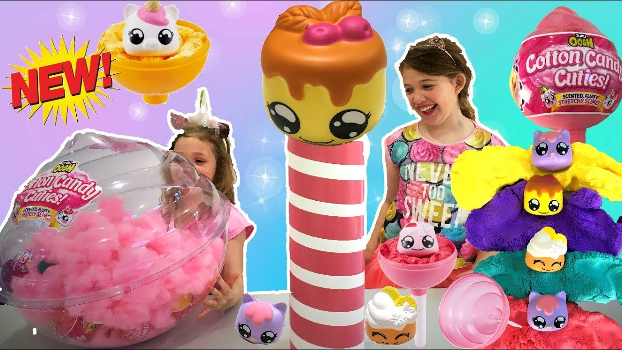 Stretchy Slime with Collectible Cutie Squishy Oosh Cotton Candy Cuties Scented