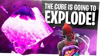 The CUBE is going to EXPLODE! - Fortnite Season 6 - Kevin the Cube is Cracking