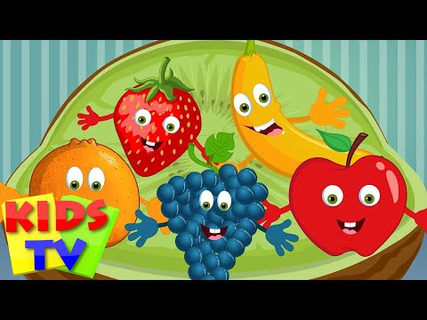 Five Little Fruits | Five Little Fruits Jumping On The Bed | Fruit Songs | Kids Tv Rhymes for Babies