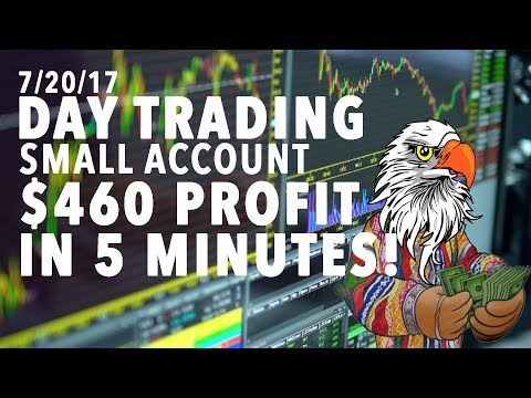 7/20/17 Day Trading Small Account $460 PROFIT IN 5 MINUTES!!!