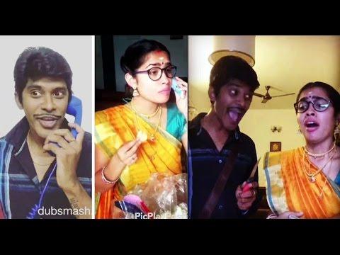 Arun & Sanjana Real Couple _ Vadivelu best scenes_ tamil cute Girls Dubsmash
