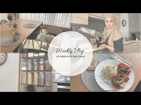 ❥ Weekly Vlog - Un week-end avec nous ╳ Organisation, ménage, rangement, retour de courses & recette