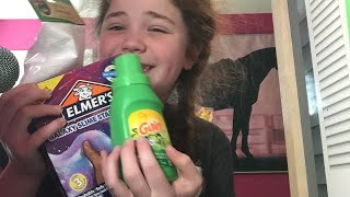 Asmr Tapping on ingredients and stuff for slime