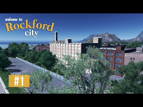 Cities Skylines: Rockford City - EP1 - Offices, shopping centre, warehouses & abandoned factory!
