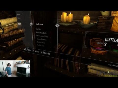 Skyrim VR Livestream - Helgen Reborn City Building Mod