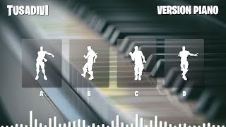 GUESS THE FORTNITE DANCE BY ITS PIANO VERSION MUSIC - FORTNITE CHALLENGE | tusadivi