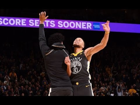 Stephen Curry and Danilo Gallinari Trade HALF-COURT Buzzer Beaters in the 1st Half