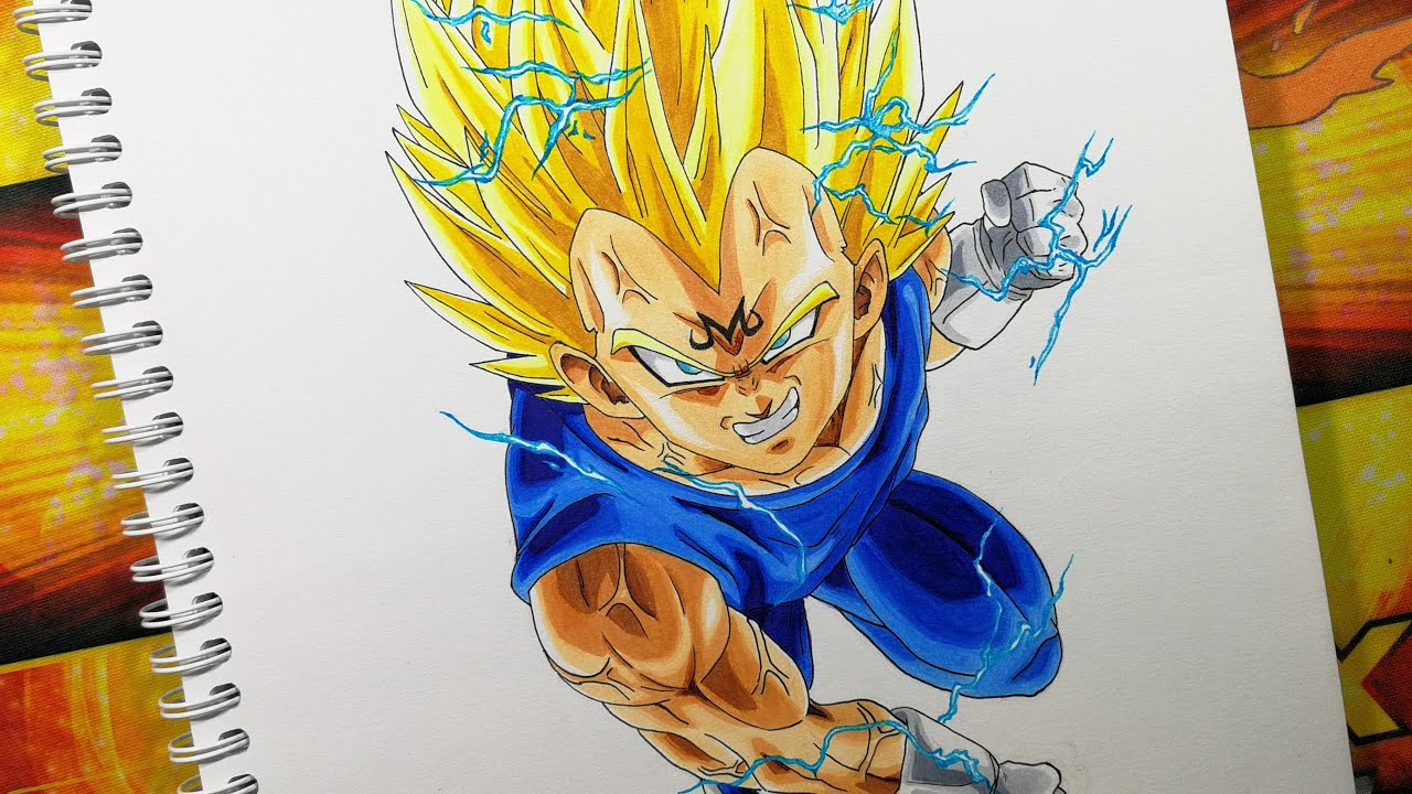 Drawing Majin Vegeta Dragon Ball Z Youtube