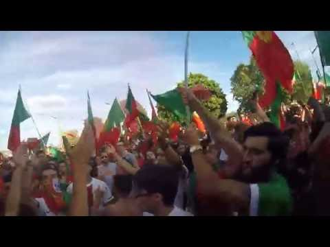 Portugal wins Euro Cup 2016, Post game Party